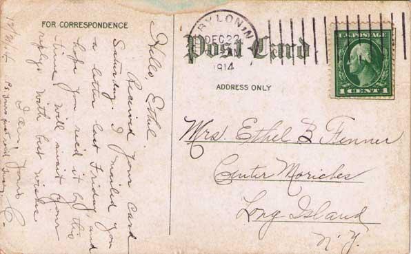 The Watson House Postcard - back