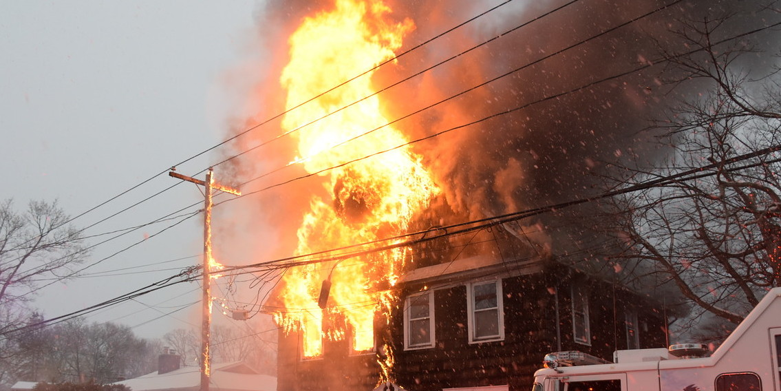 Arnold Ave House Goes Up In Flames – Two Firefighters Injured