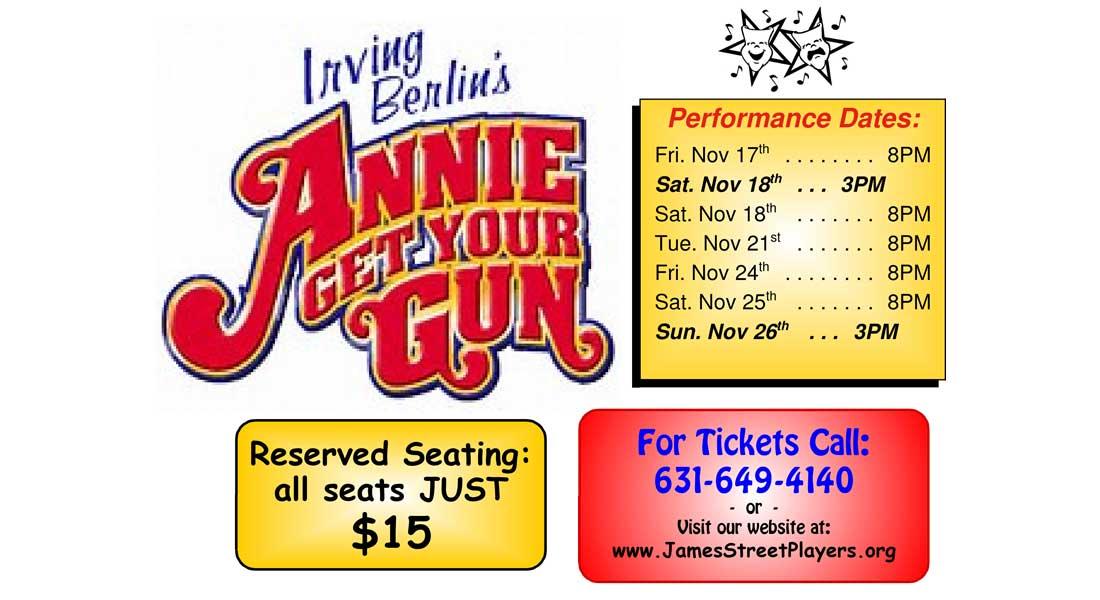 Annie Get Your Gun at The James Street Playhouse