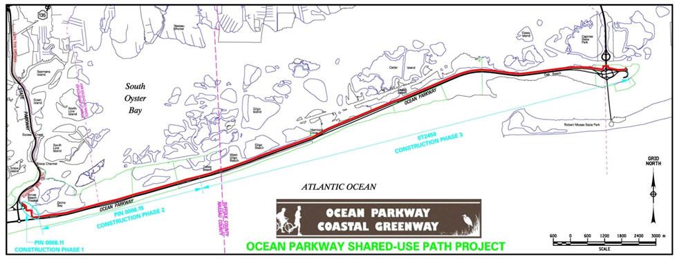 Ocean Parkway Coastal Greenway Map